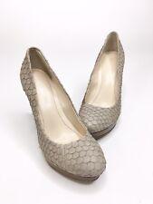Calvin Klein Womens Size 5.5 M Kendall Faux Fish Skin Platform Stiletto Heels