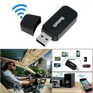 Car USB Wireless Receiver Bluetooth 3.5mm AUX Audio Music Adapter For Car