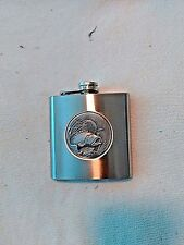 Hip Flask Stainless Steel Liquor 6 oz BASS Screw down cap FREE shipping USA NEW