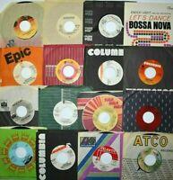 "(10) Records Mix Lot 70-80s Rock Pop 7"" Single 45 rpm Jukebox Soul Folk w/Sleves"
