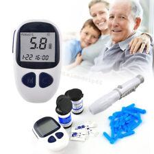 Electronic Digital Blood Glucose Monitor Meter Monitor Kit 50 test strips Lancet