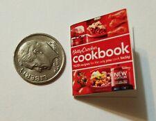 Miniature dollhouse Betty Crocker Cook Book Barbie 1/12 Scale accessories B