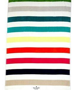 Kate Spade Beach Towels Lot of 2 Resort Lounge Chair Candy Stripes Flaw