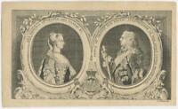 18th Century J. Jeffreys Engraving Prince William IV Orange Nassau Princess Ann