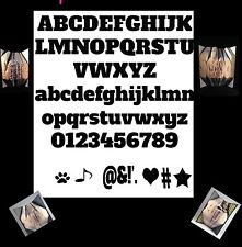 Chunky Alphabet , Numbers And Icons Pattern For Bookfolding, Bookart, Origami
