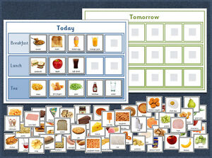Food / Meal - Daily Planner / Visual Timetable / Routine - Autism - 70+ Cards