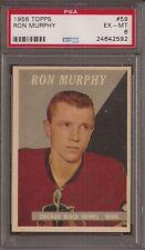 PSA 6 1958 TOPPS HOCKEY #59 RON MURPHY