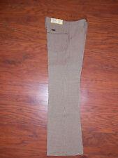 70s Vintage Wrangler Houndstooth Brown Unisex Boys/Girls Size 8 Regular Pants!!!