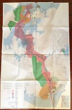 1977 Panama Canal Zone Treay Map - Tommy Guradia - Color / Large 5' X 3'