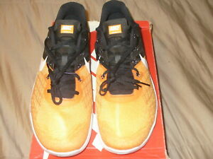 Nike Metcon 3TB 898055 802 MenTraining Shoe Orange-Black Authentic SZ 13M NWB