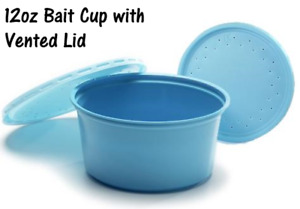 12 oz. Bait Cups with Vented Lids (Qty 50) Great for Worms / Insects / Crickets