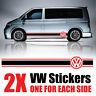 VW Transporter Graphics stripes Camper Van  Decals Stickers T4 T5 Caddy rv60