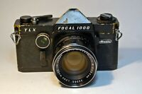 Focal TLX 1000 35mm SLR Camera with Rikenon 55mm 1.8 lens, Black, Tested