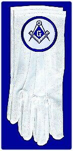 MEN's Masonic Scottish Rite Shriner Past Master Gloves - CHOOSE YOUR EMBLEM