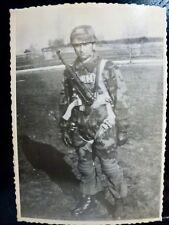 PHOTO photo WW2 WWII : PARACHUTISTE Camo - LUFTWAFFE