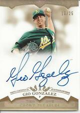 GIO GONZALEZ AUTO ON CARD # 16/25!!! GOLD! 2011 Topps Tier One # CP-GG A'S!!!