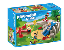 PLAYMOBIL 4132 Super Set PLAYGROUND Skater Skateboard Slide Soccer