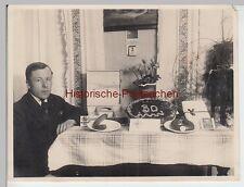 (F4971) Orig. Foto Erich Hoffman a. Seidenberg O.L. vor Geschenketisch, Zawidów