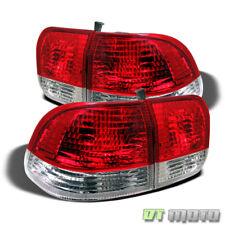 For 1996-1998 Honda Civic 4Dr Sedan Red Clear Tail Lights Brake Lamps Left+Right