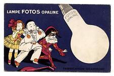 PUBLICITé LAMPE FOTOS OPALINE.PIERROT.ARLEQUIN.FABRICATION GRAMMONT.