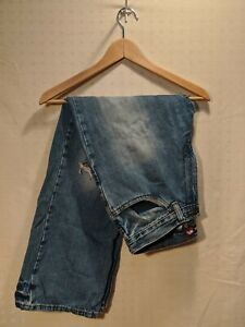 Tony Hawk Men's Blue Jeans Distressed Red Logo Size 32 x 30