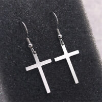 Fashion Women/Men Cool Simple Style Cross Ear Pendant Earrings Punk Ear Jewelry