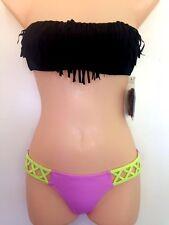 NWT Victoria's Secret Bikini Set Fringe Bandeau & Crisscross Bottom XSmall (C44)
