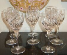 "STUART CRYSTAL CONTESSA 7 5/8"" CLARET WINE GLASSES SET OF 8"