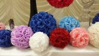 "7""/10"" 20-25mm Flower Kissing Ball Rose Pomander Wedding Party Home Decoration"
