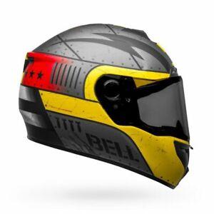 Bell SRT Devil May Care Matte Gray/Yellow Medium Full Face Motorcycle Helmet