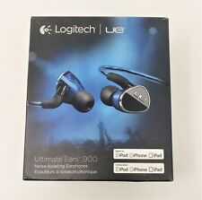 Logitech UE 900 In-Ear Only Noise Isolating Headphones w/ All Accessories Cables