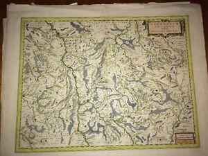 FRANCE (NIÈVRE) :  Karte antike der Nièvre durch, Blaeu ,1642.