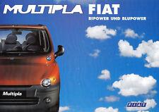 FIAT MULTIPLA BIPOWER BLUPOWER prospetto brochure con listino prezzi tecnica 1999/61
