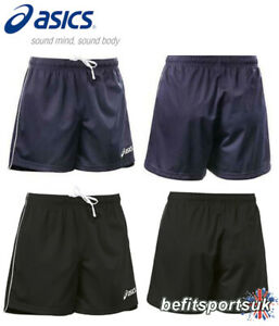ASICS MENS LIGHT DRI TEAM FOOTBALL SPORTS GYM FITNESS SHORTS BLACK NAVY S M L XL