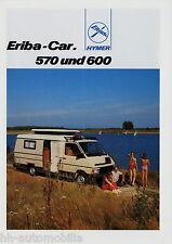 Prospectus Hymer Eriba-car 570 600 1988 voyage portable Camping-car Motorhome brochure