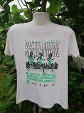 1989 New Jersey Waterfront Marathon Running Mens White Vintage T Shirt Medium