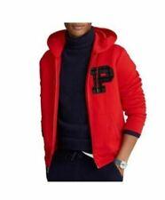 POLO Ralph Lauren Red Full Zip Double Knit Hoodie Sweatshirt Jacket Men's XL