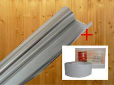 Alufolie Sauna Dampfsperre Alu Aluminiumfolie Aludampfsperre Folie 10mx0,1mm