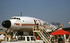 TWA Lockheed Super G Connie Airplane N6937C 35mm Slide Trans World Airlines