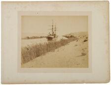 c.1869 Albumen Photograph of Suez Canal