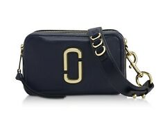 NWT Marc Jacobs The Softshot 21 Leather Crossbody Bag ~ Navy ~ M0014591