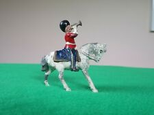 JoHillCo Lead Figure - Pre-war Royal Scots Grey Trumpeter on white horse