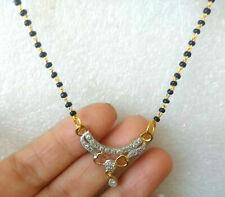 Indian AD American Diamond Fashion Jewelry Mangalsutra Bolllywood Set M-10