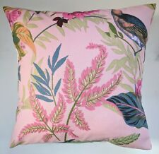 "Cushion Cover in Next Paradise Bird Floral Pink16"" Matches Curtains Bedding"