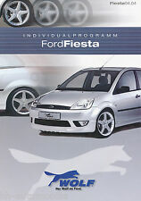 Prospetto FIESTA Wolf individualprogramm 4/04 D GB brochure Accessories 2004 auto