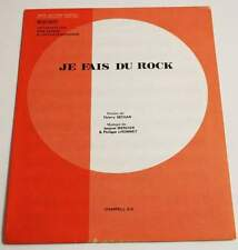 Partition vintage sheet music DICK RIVERS (CHATS SAUVAGES) Je Fais du Rock  *60\u0027s