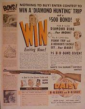 1961 Daisy B B Gun Western Winchester Memorabilia Air Rifle Boys Toy Promo AD