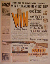Daisy B B Gun~1961~Western Winchester Air Rifle Boys Kids Toy Promo Print AD