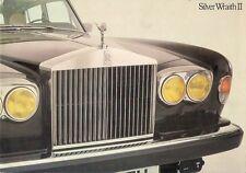 Rolls-Royce Silver Wraith II 1977-80 UK Market Sales Brochure