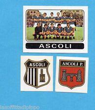 FIGURINA PANINI 1972/73-n.386- ASCOLI - SQUADRA+SCUDETTO+STEMMA-Rec